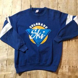 ✨Vintage✨ Retro Colorado Ski Sweatshirt Large